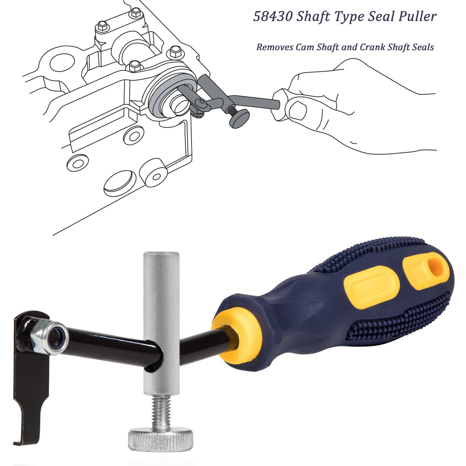 58430 Shaft Seal Puller Tool Automotive Tools Supplies Remover Motorcycle Auto
