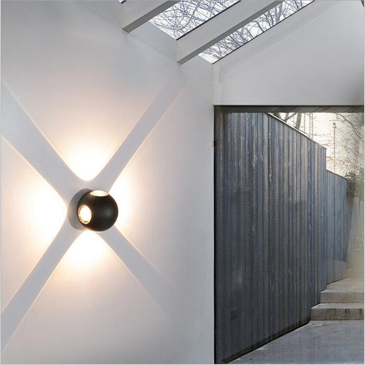 12W Led Wandlampe Außen Wandleuchte Kugel Wand Licht IP65