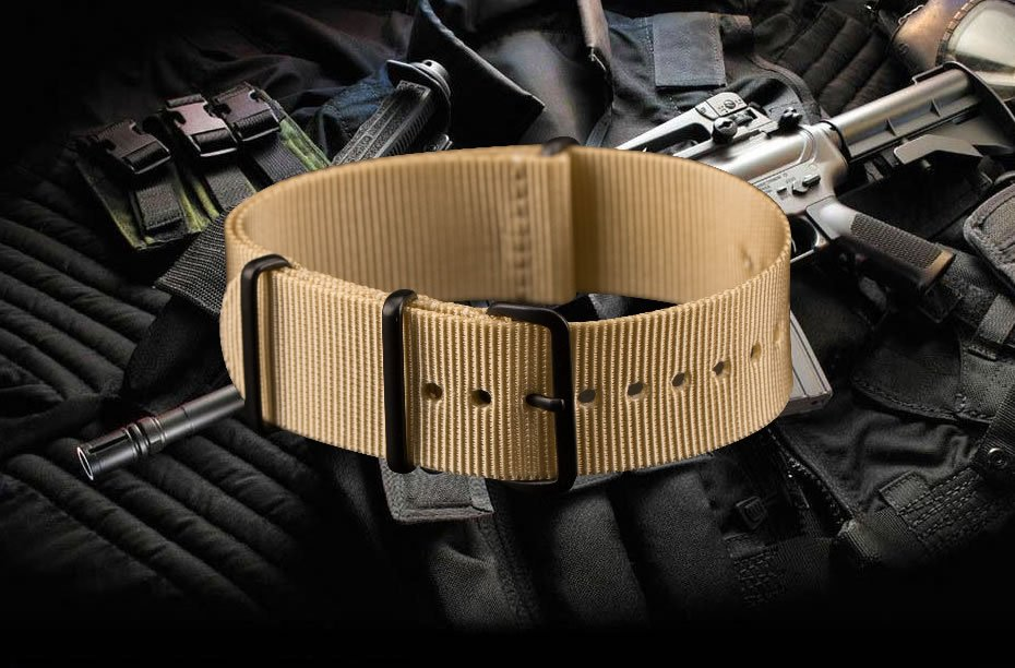 INFANTRY-20-22mm-Mens-Watch-Band-Strap-Nylon-Outdoor-Military-Replacement thumbnail 4