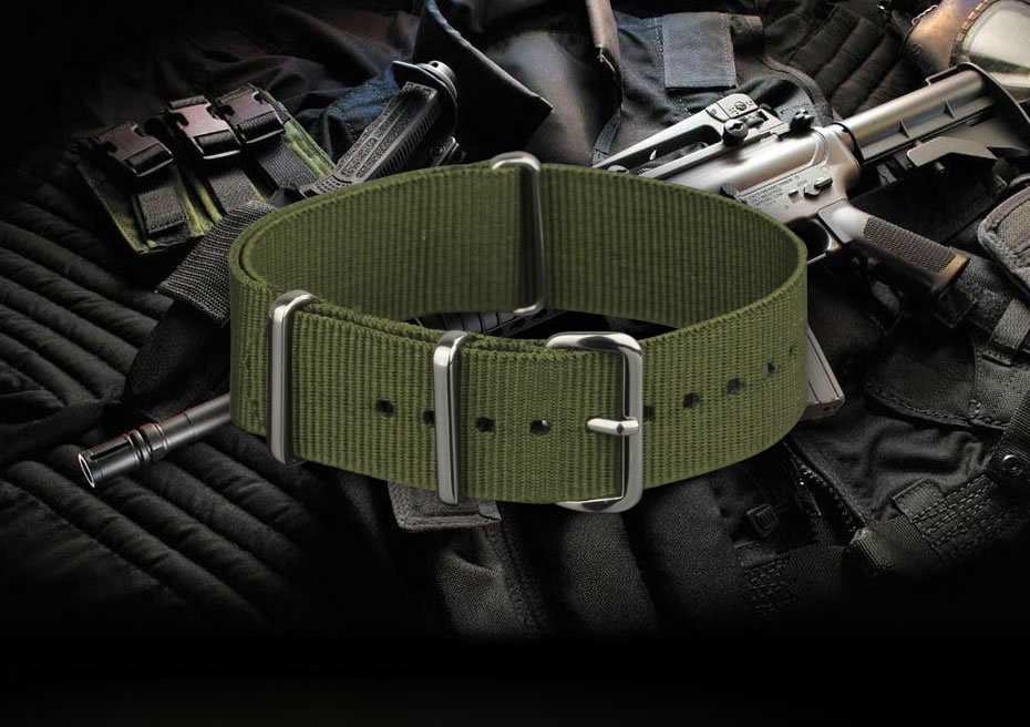 INFANTRY-20-22mm-Mens-Watch-Band-Strap-Nylon-Outdoor-Military-Replacement thumbnail 5