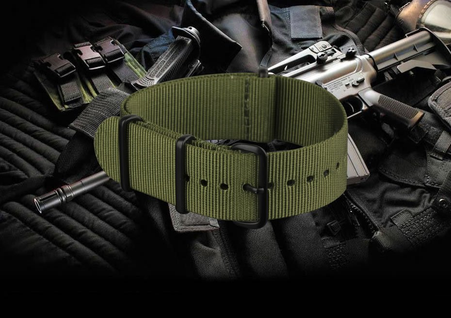 INFANTRY-20-22mm-Mens-Watch-Band-Strap-Nylon-Outdoor-Military-Replacement thumbnail 3
