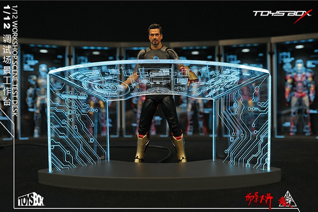 TOYS-BOX 6'' Desk 1 12 Comicave SHF Iron Man Test Desk Workshop Scene Figures