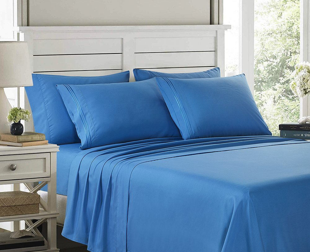 DEEP POCKET 2100 COUNT BAMBOO SERIES 6 PIECE BED SUPER SOFT SHEET SET MOST SIZES