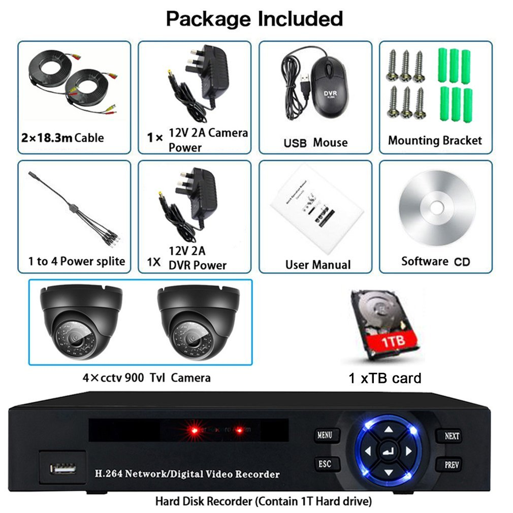 2-4-8CH-HDMI-CCTV-1080P-Video-DVR-Camera-Security-System-Home-Outdoor-1TB-HDD thumbnail 27