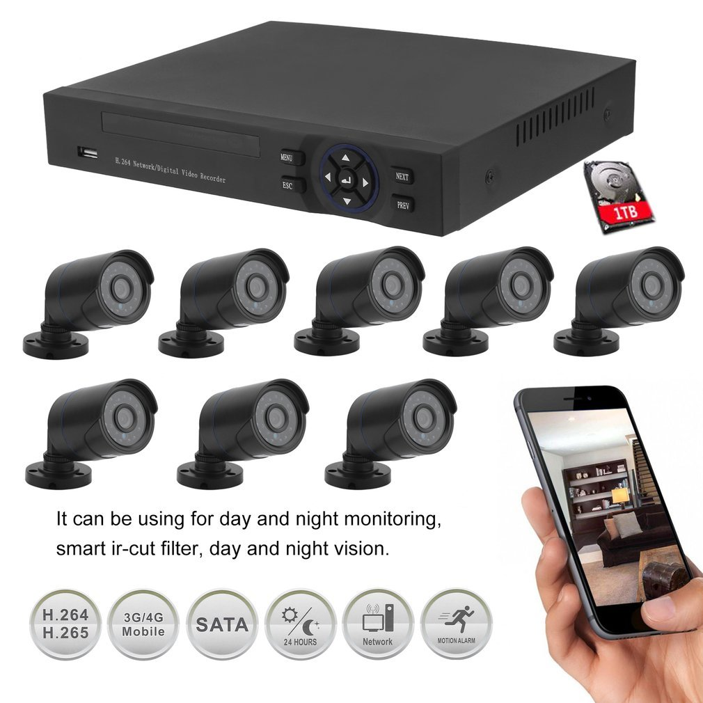 2-4-8CH-HDMI-CCTV-1080P-Video-DVR-Camera-Security-System-Home-Outdoor-1TB-HDD thumbnail 21