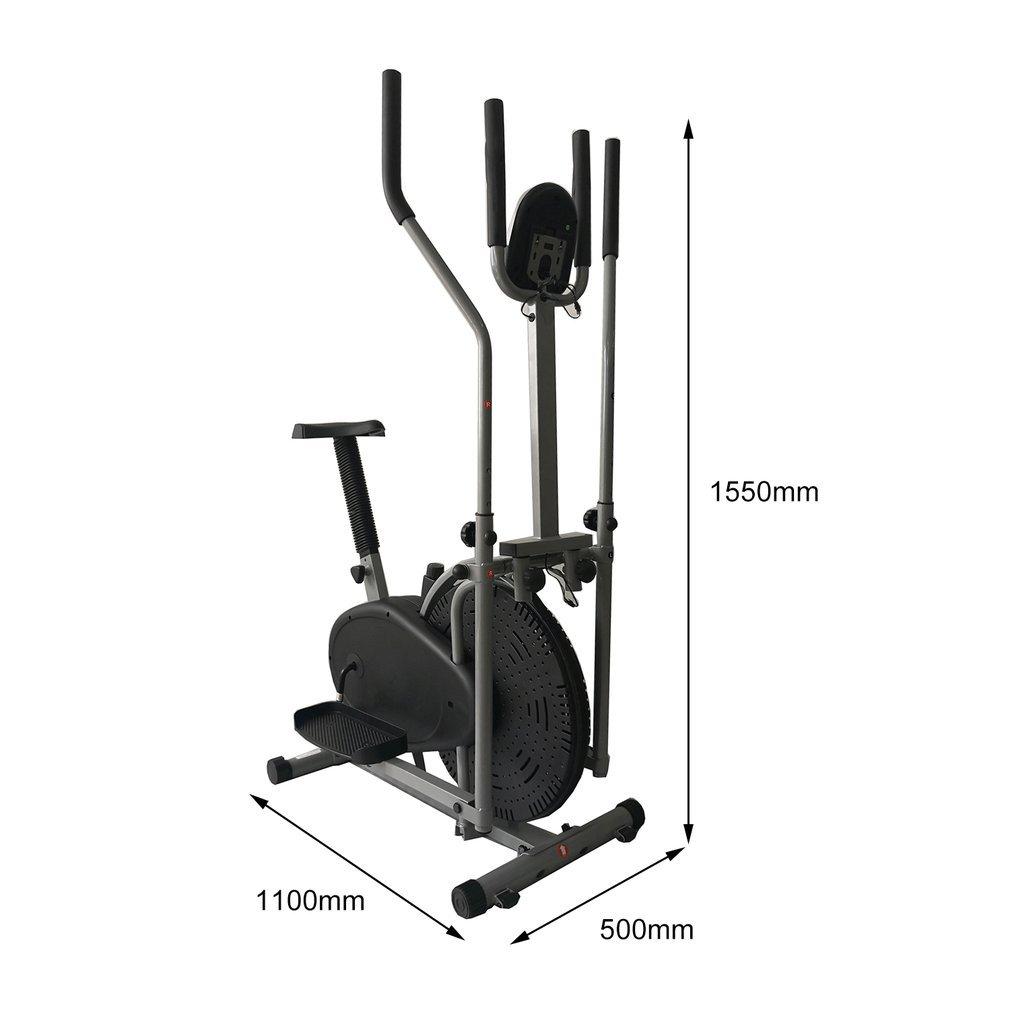 Folding 2 in 1 Elliptical Bike Cross Trainer Exercise Fitness Gym Machine BA