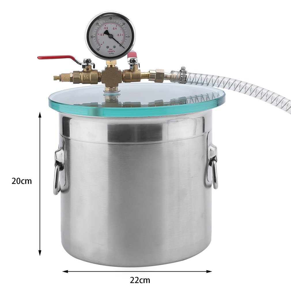 2 Gallon Vacuum Chamber Single Stage Pump Degassing ...