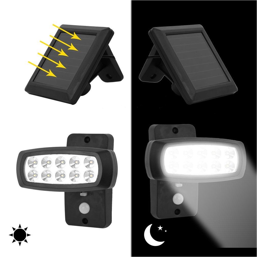 lampe led solaire avec detecteur de mouvement sans fil luminaire exterieur ri ebay. Black Bedroom Furniture Sets. Home Design Ideas