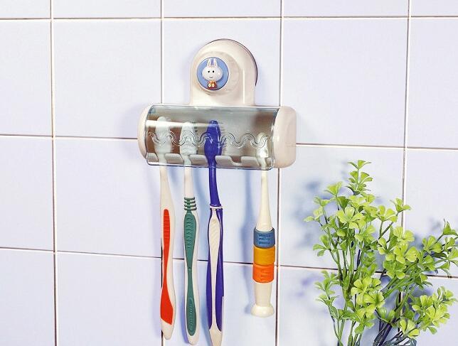 5er zahnb rstenhalter zahnb rste wand halter saugnapf mit schutzkappe bestking ebay. Black Bedroom Furniture Sets. Home Design Ideas