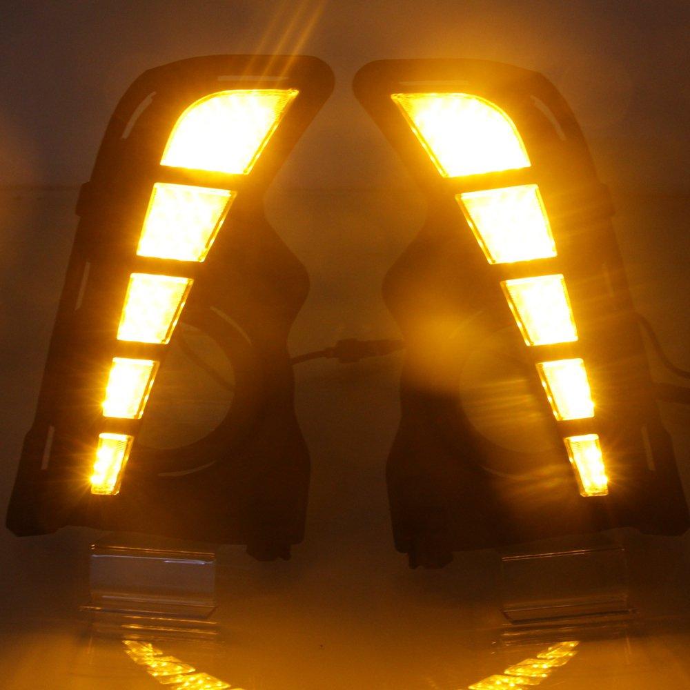 LED DRL For Toyota Highlander 2017 2018 Daytime Running