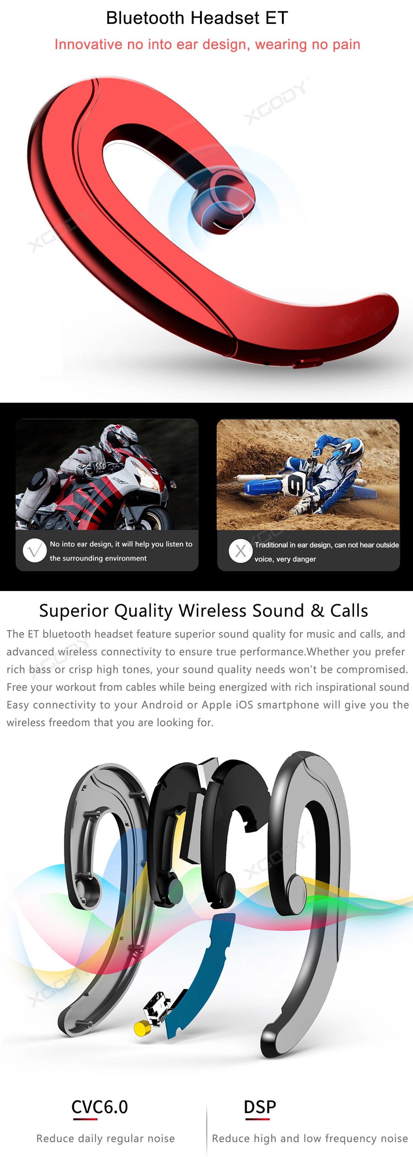 Wireless Bone Conduction Headset bluetooth 4.1