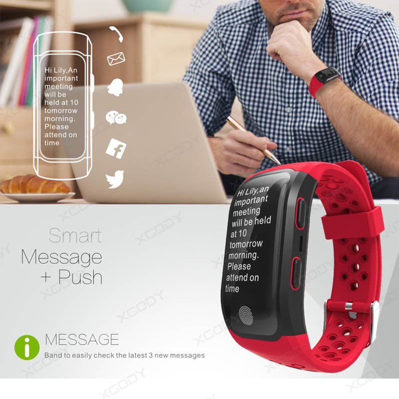 Wristband Running GPS Fitness Tracker Walking Swimming Heart Rate
