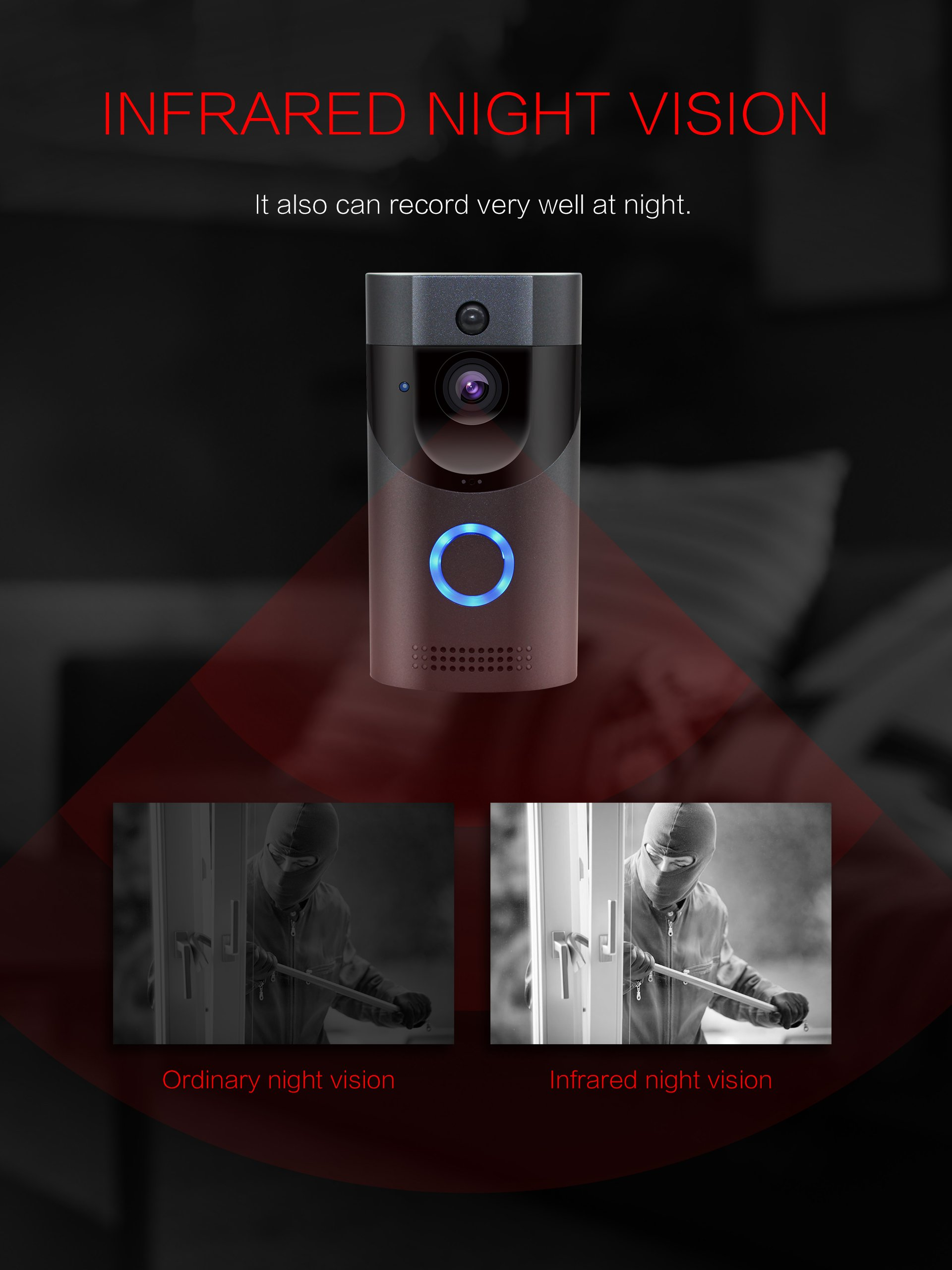 M5/M9/M11 Wireless Video Doorbell Smart Phone Ring Security Bell