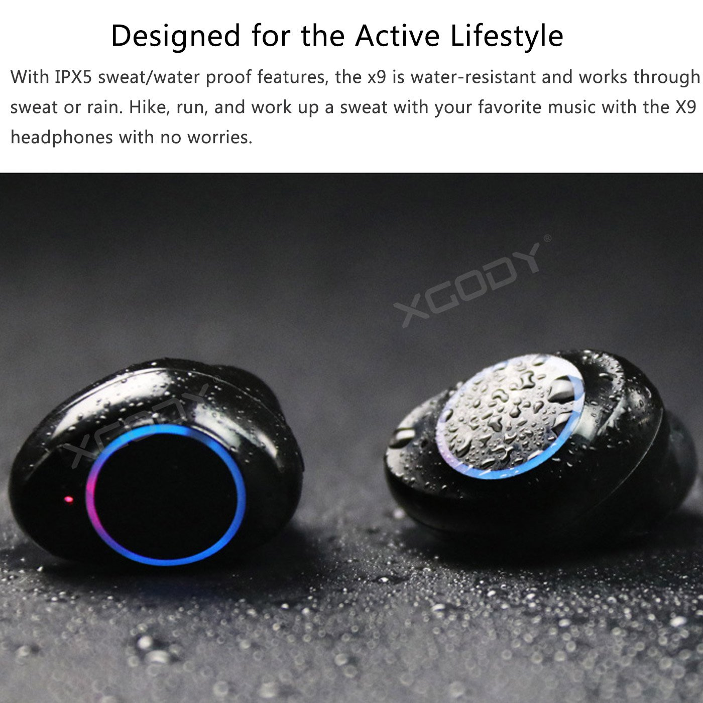 XGODY Wireless Earbuds TWS Mini True Bluetooth Stereo