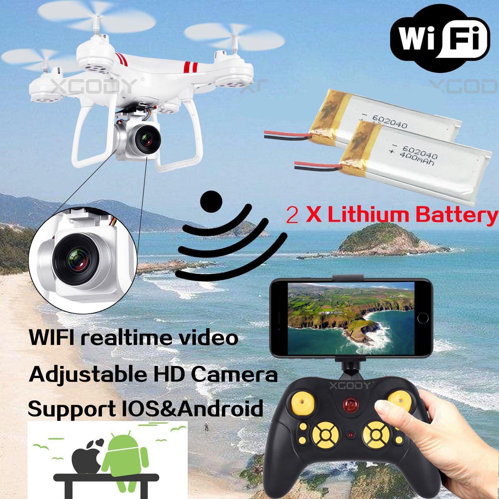WIFI Camera Drone FPV 2.4Ghz 4CH 6-Axis RC Quadcopter HD RTF Explorer 360 Flip