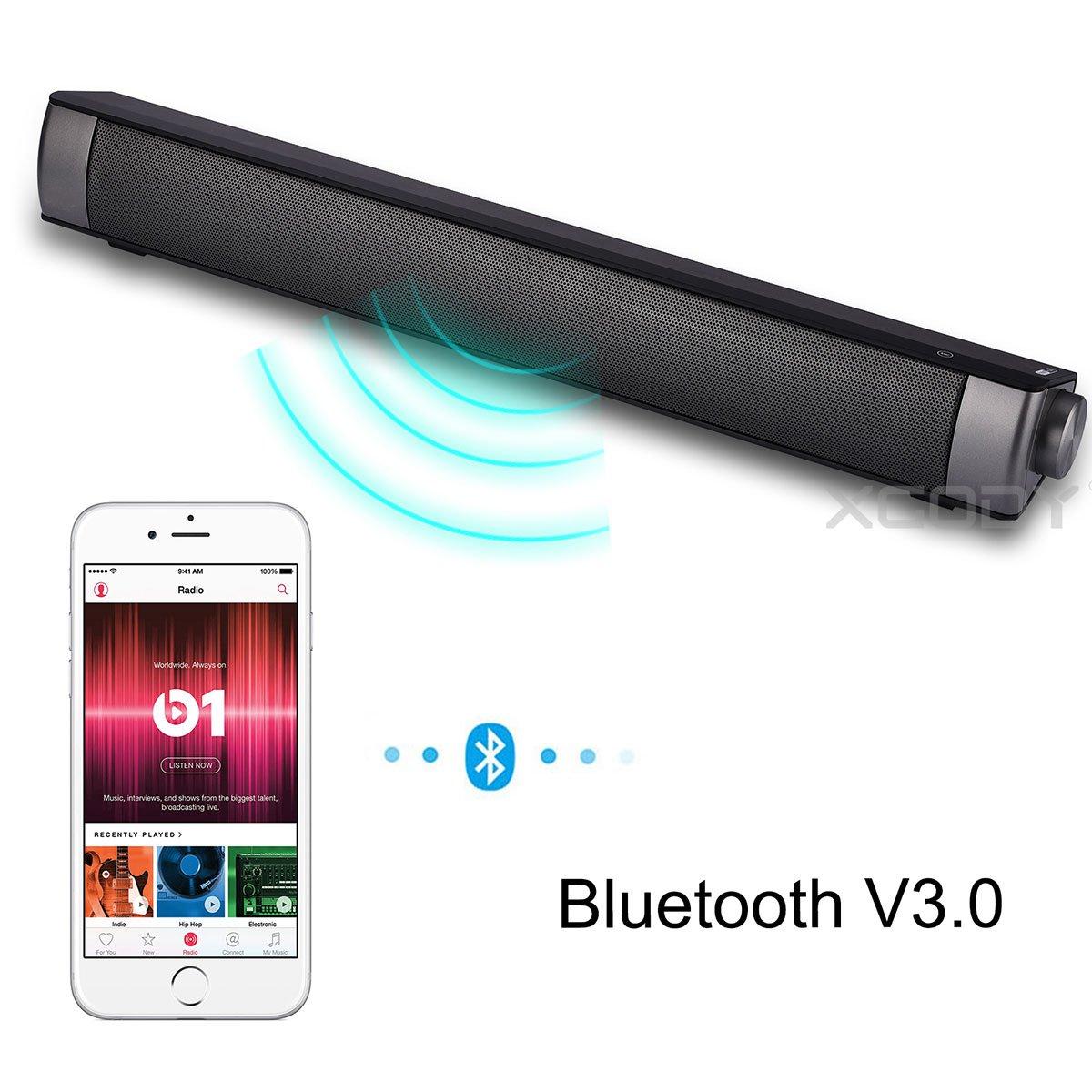 XGODY Wireless Sound Bar TV Soundbar Bluetooth Speaker Theater Stereo HIFI 20W