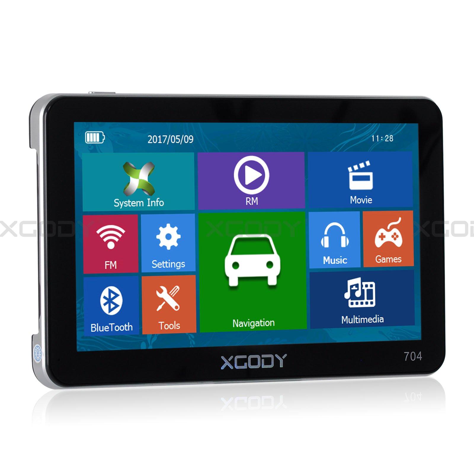 XGody 704 Capacitive Touch Rear Camera Car Navigator