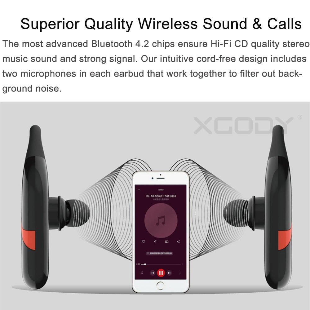 XGody S800 IPX67 Waterproof Hook Design Stereo Wireless Headset