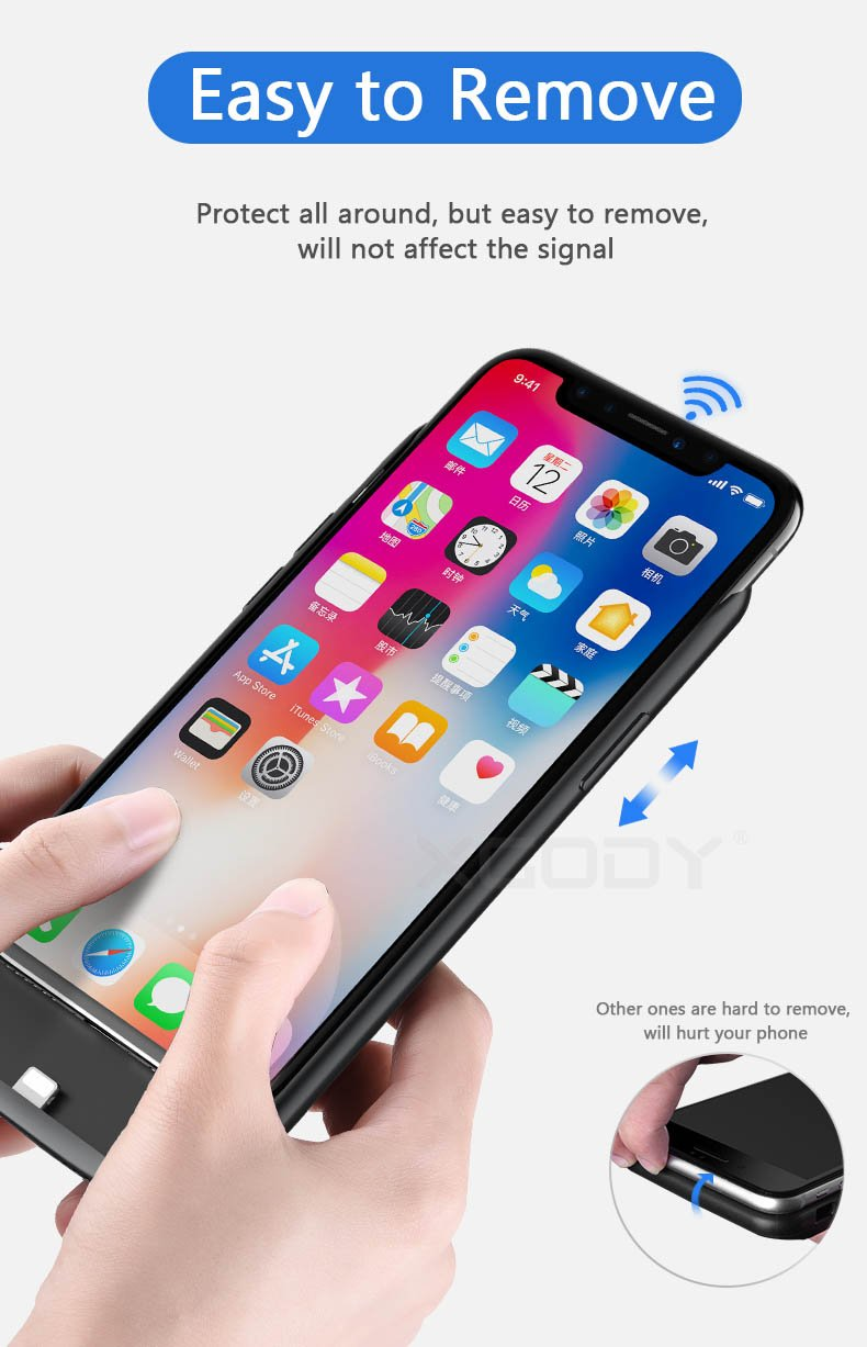 Power bank Case Charger for Apple iPhone X