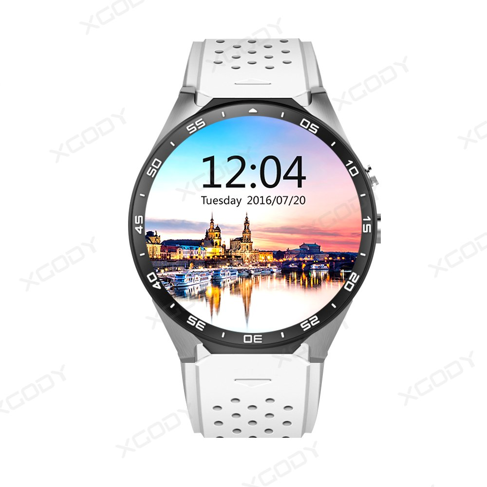 KW88 Android Smart Watch 3G Cellular Google AI Integrated