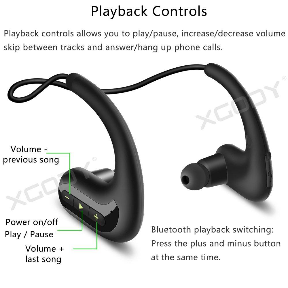 XGody BT4.2 Waterproof Neckband Wireless Sports Headset