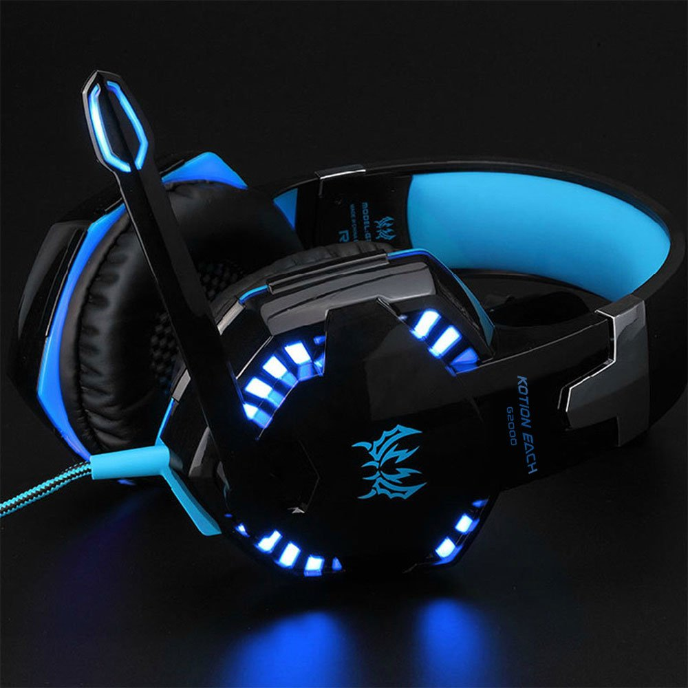 3.5mm Gaming Headset MIC LED Headphones for PC Laptop PS4 Slim Pro Xbox One 360 7