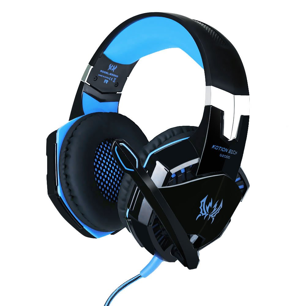 3.5mm Gaming Headset MIC LED Headphones for PC Laptop PS4 Slim Pro Xbox One 360 2