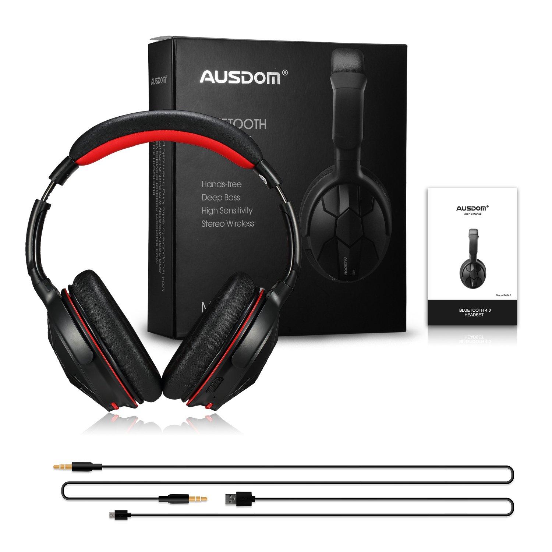 AUSDOM-Wireless-Headphones-Bluetooth-Stereo-Earphones-Super-Bass-On-Ear-Headset thumbnail 14