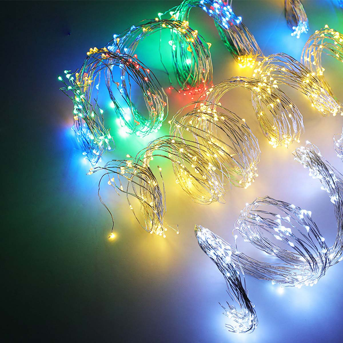 Solar-LED-Waterfall-Lights-Copper-Wire-Fairy-String-Outdoor-Wedding-Dating-Decor thumbnail 22