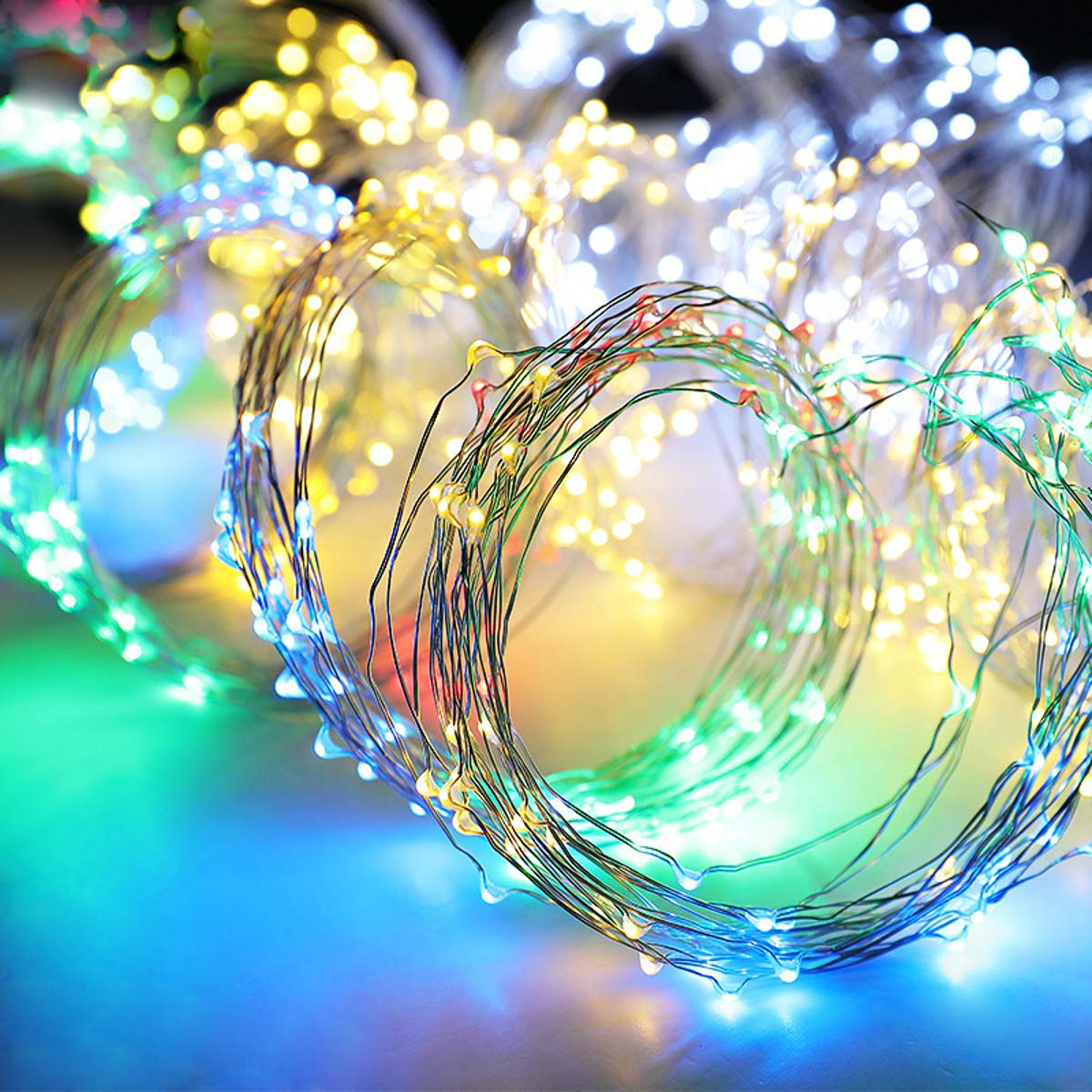 Solar-LED-Waterfall-Lights-Copper-Wire-Fairy-String-Outdoor-Wedding-Dating-Decor thumbnail 21