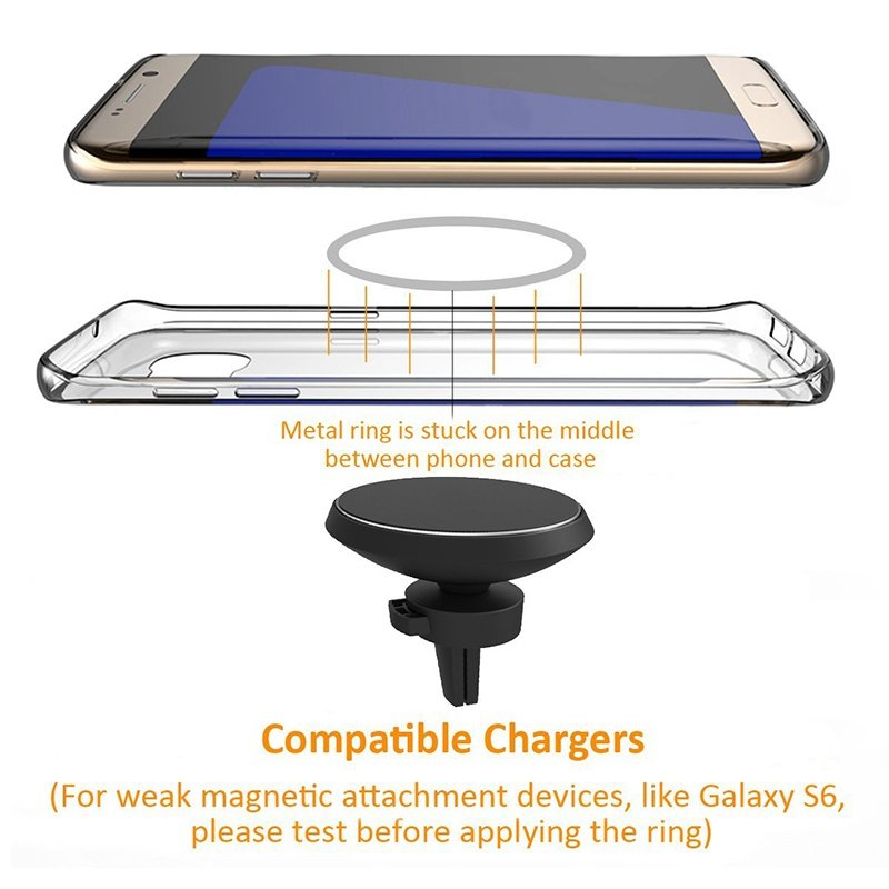 Qi Wireless Car Charger Magnetic Mount Holder For Samsung iPhone Canada Stock