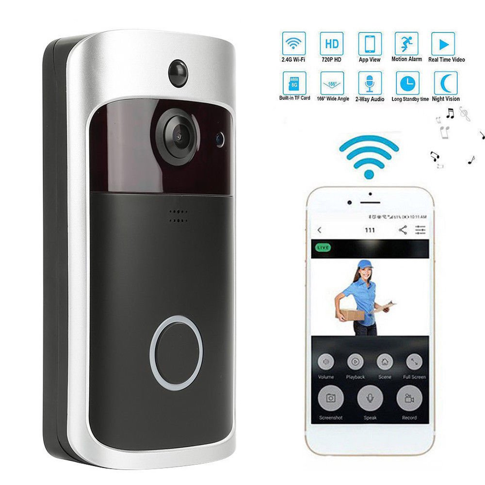 Home Security Wireless Ring DoorBell Cam Real-Time Video 2-Way Talk Night Vision 7