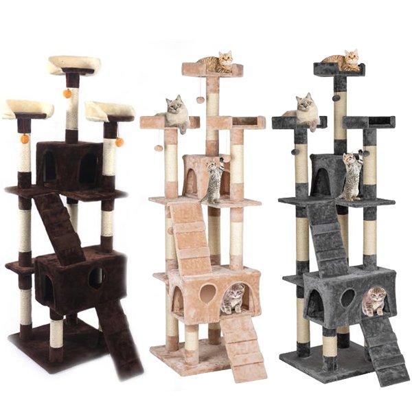 66'' Cat Tree Tower Post Condo Furniture Pet Climbing Scratc