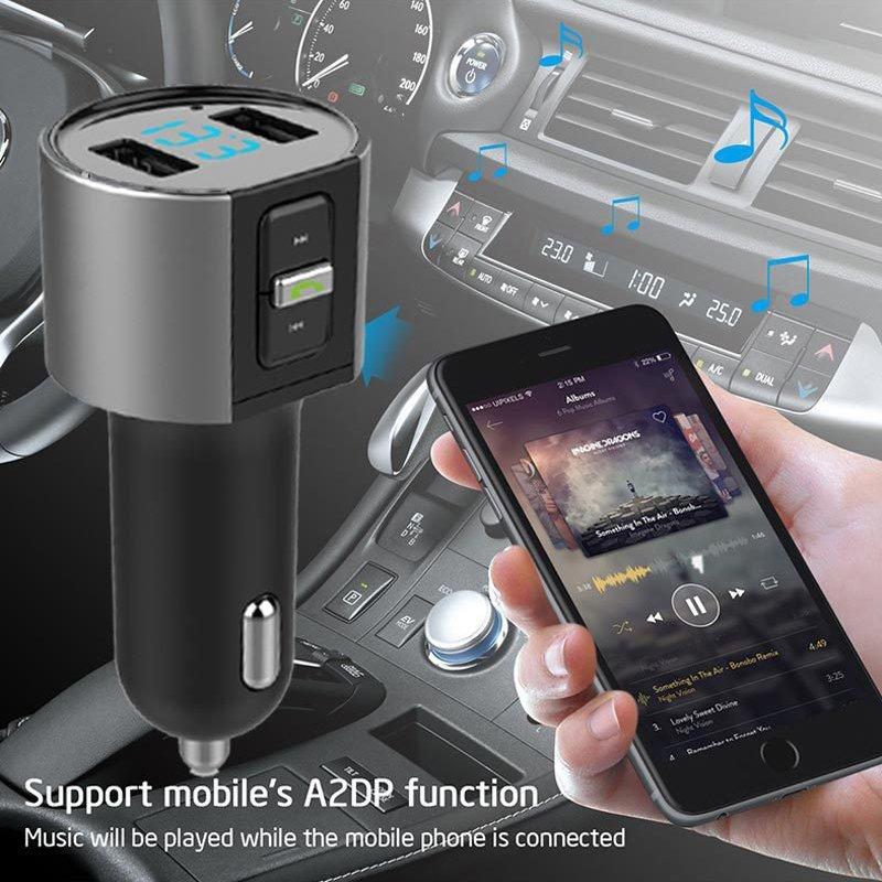 Car Cigar Plug Bluetooth FM Transmitter MP3 Player Radio Adapter Kit USB Charger