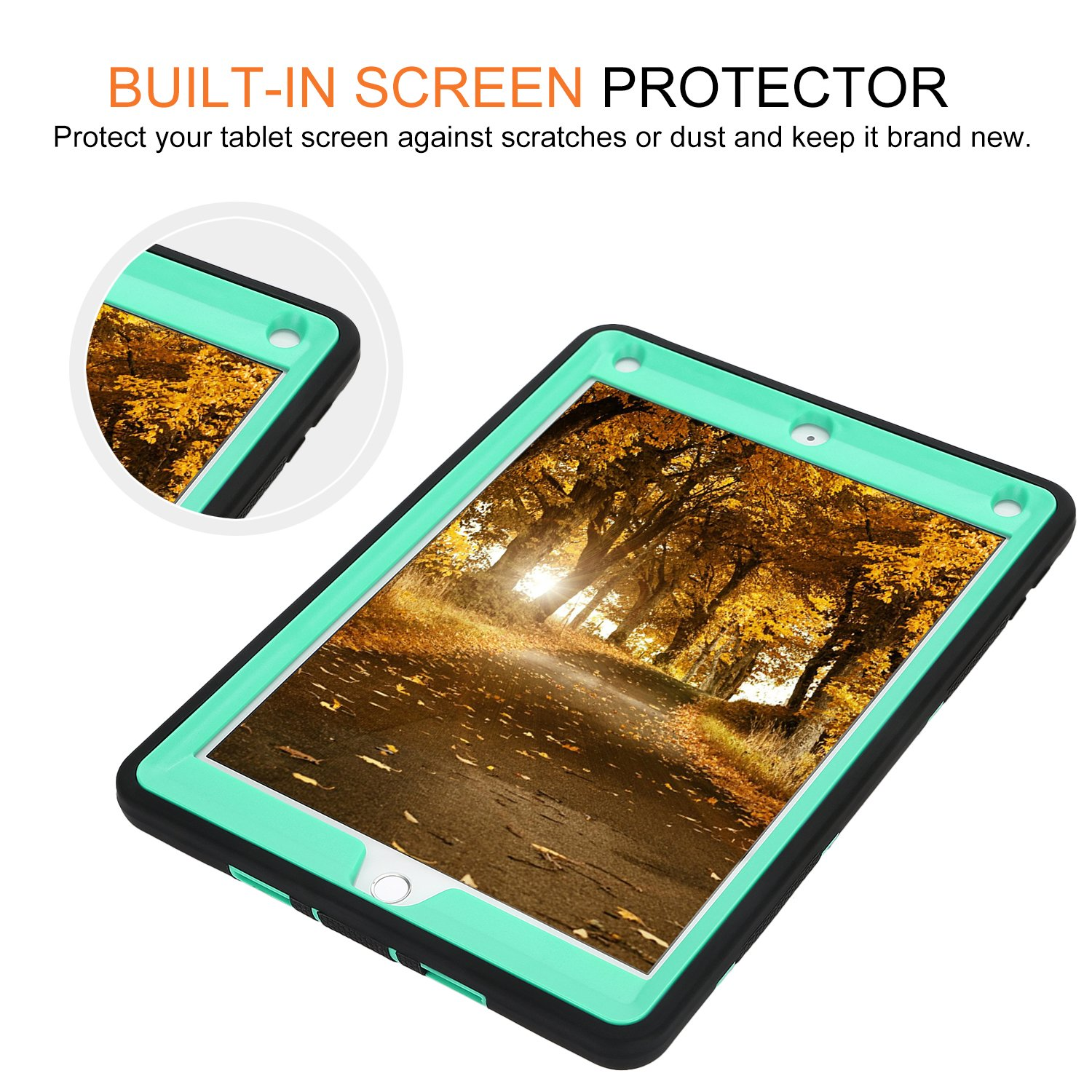 Rugged 3-Layer Heavy Duty Shock Proof iPad 234 Mini Pro Air Case Shell Cover 43