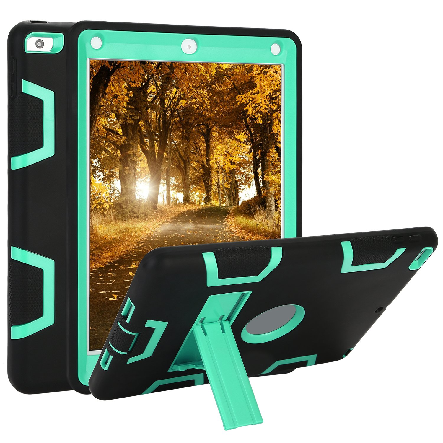 Rugged 3-Layer Heavy Duty Shock Proof iPad 234 Mini Pro Air Case Shell Cover 31