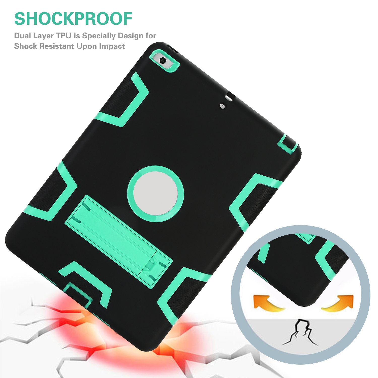 Rugged 3-Layer Heavy Duty Shock Proof iPad 234 Mini Pro Air Case Shell Cover 37
